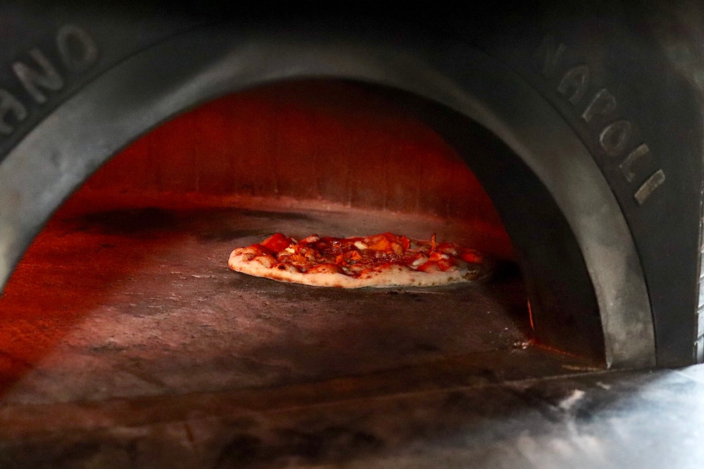 Pizzala Pizza oven showing the pizza Helsinki Finland