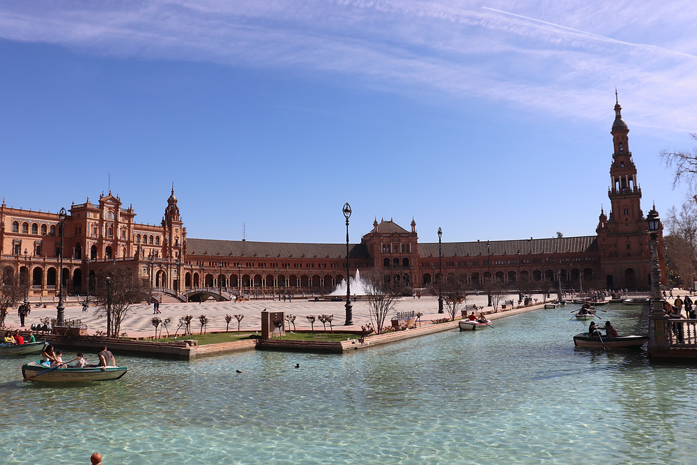 Plaza de Espana in seville on a sunny day southern spain
