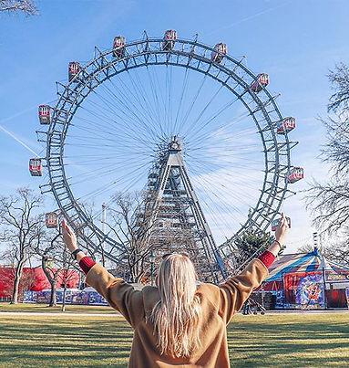 Prater park ferris wheel in Vienna, Austria