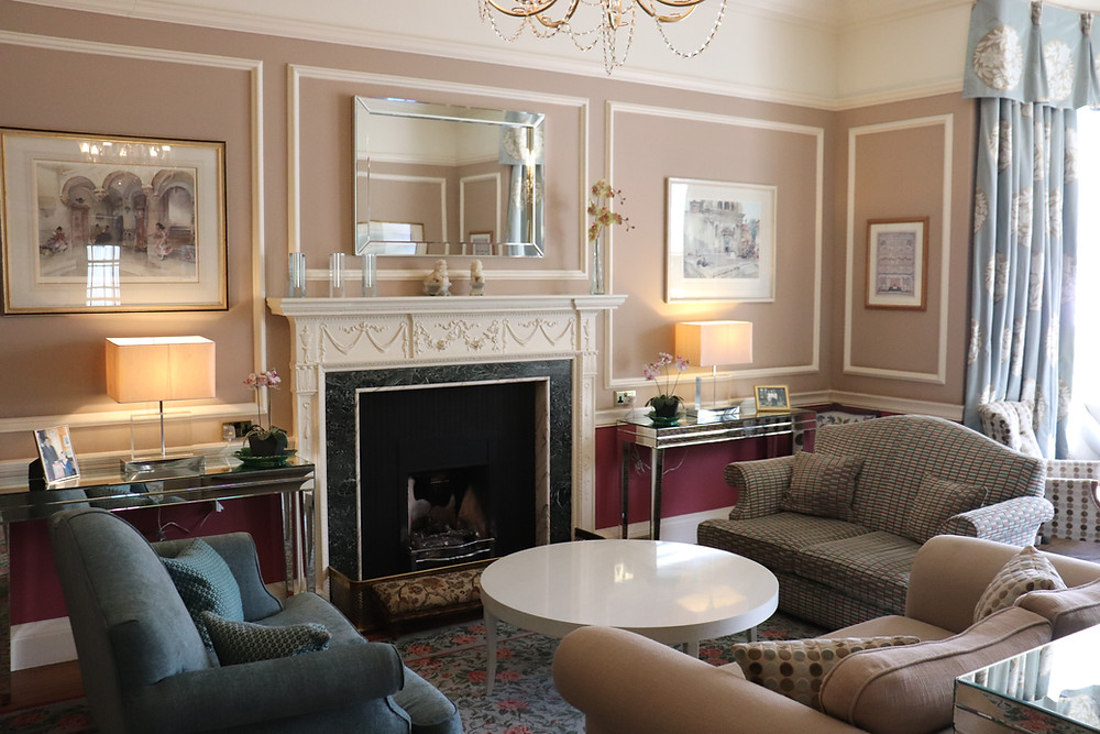 Seating area in the hotel lobby rufflets st andrews scotland