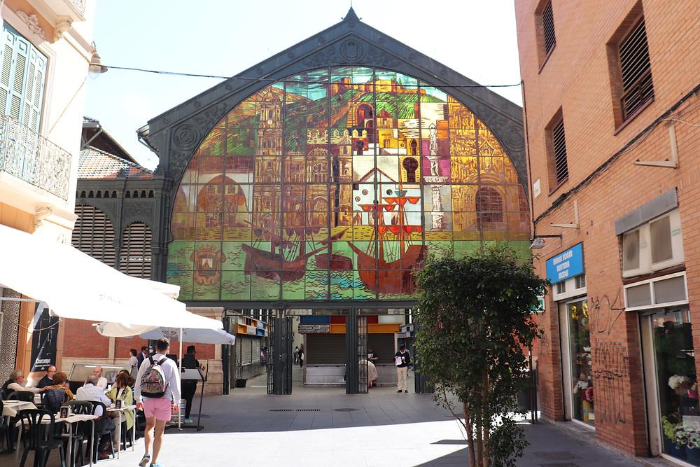 Atarazanas Market food market and tapas restaurants Malaga Spain