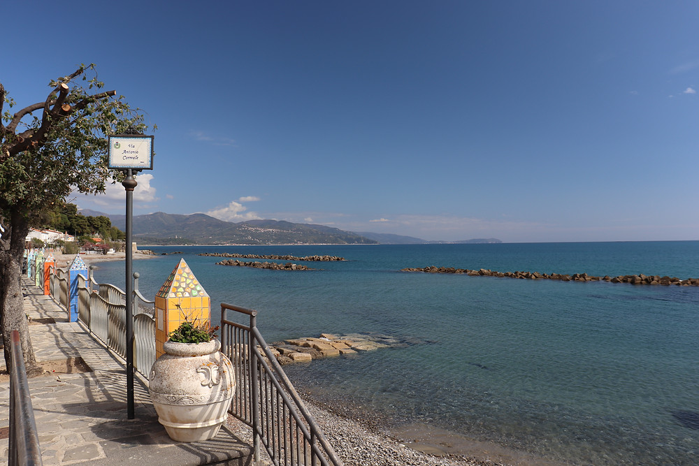 View of the coast at Pioppi in Italy