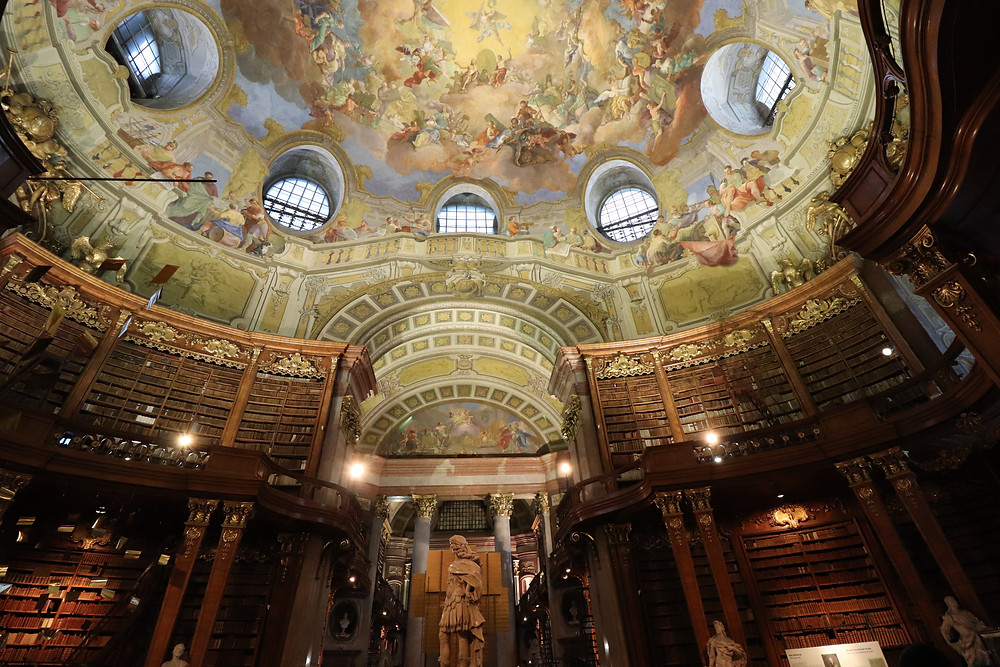 Austrian National Library indoor large old