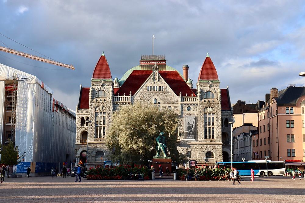 Helsinki Railway Square in September, Finland