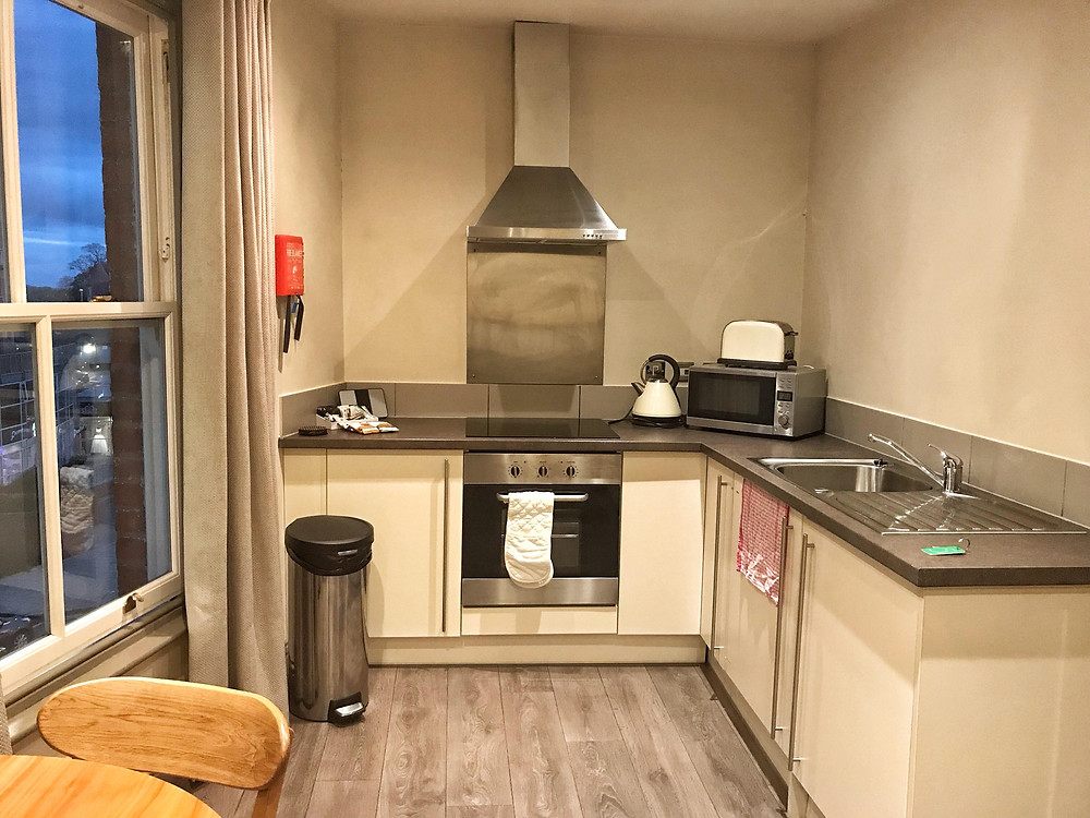 Kitchen in Base Serviced Apartments Chester, England