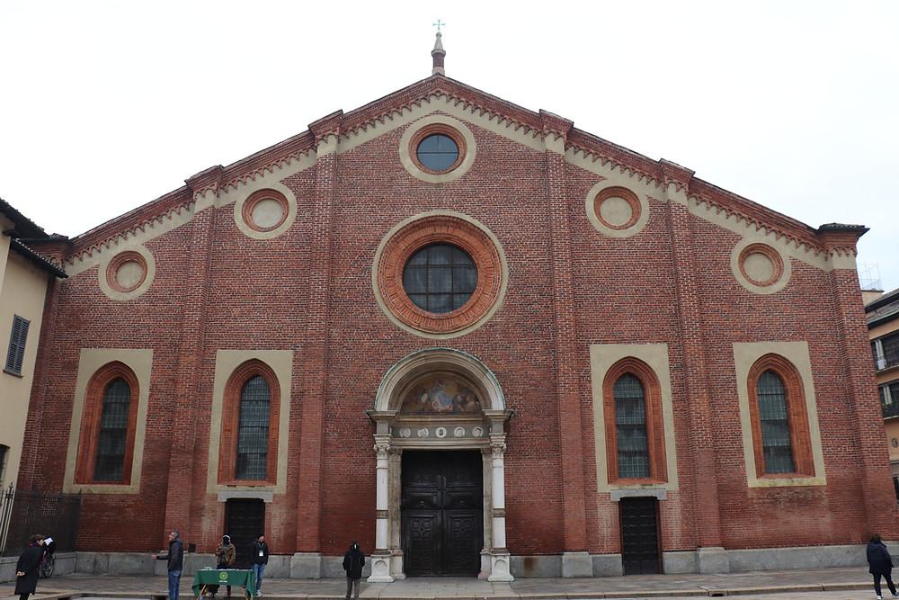 Santa Maria delle Grazie exterior, The Last Supper Milan Italy
