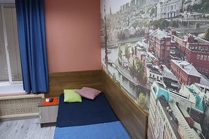 Hotel Yakimanka twin bedded room in Moscow city Russia