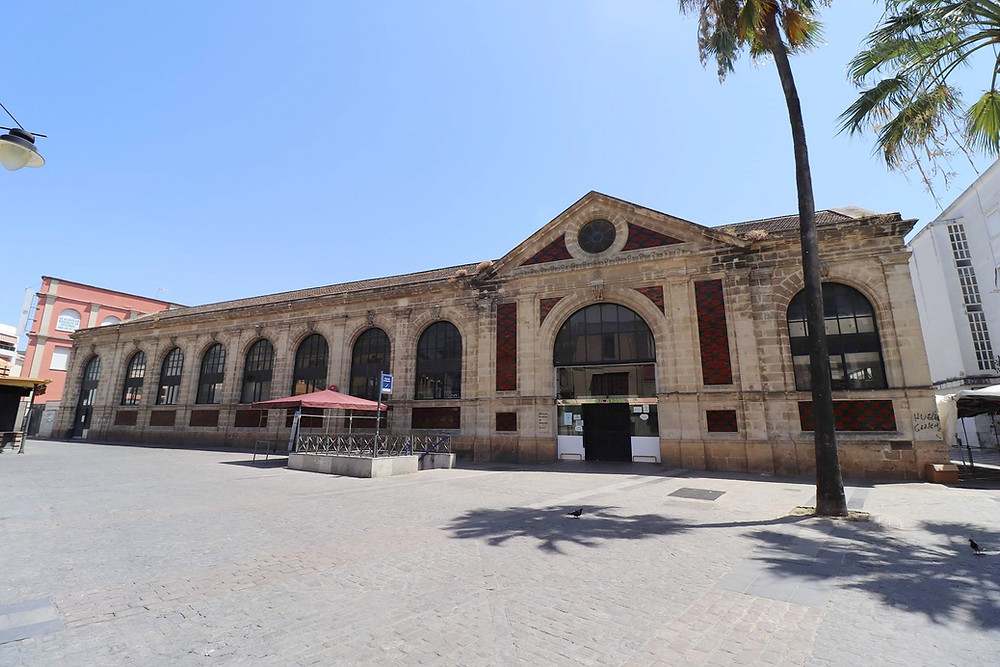 Mercado Central de Abastos exterior in Jerez, Cadiz, Spain