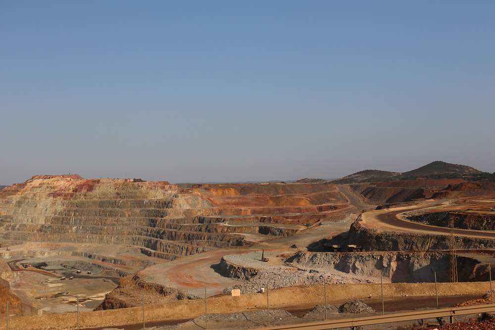 View of rio tinto in southern spain