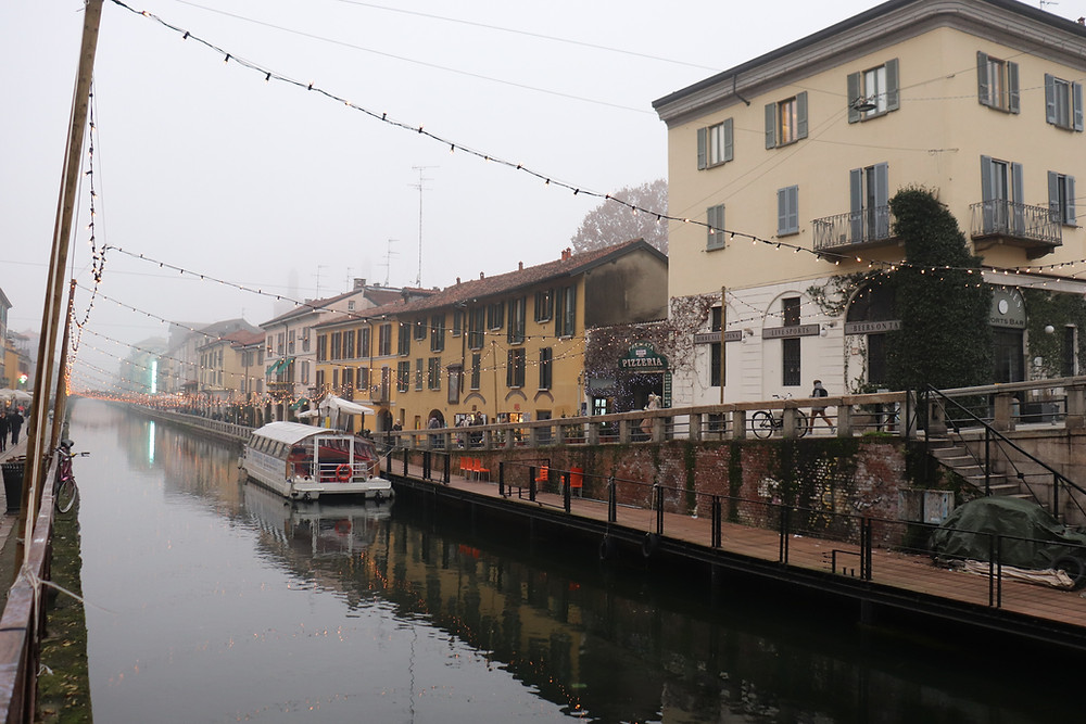Navigli district Milan Italy