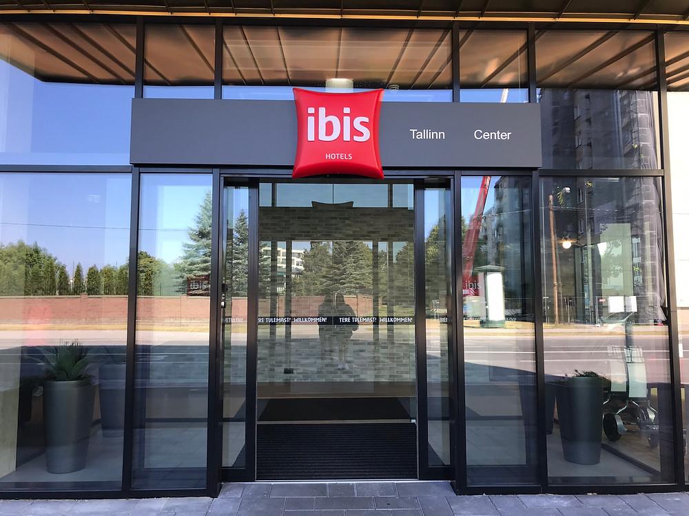 Entrance to the ibis tallinn city center hotel estonia