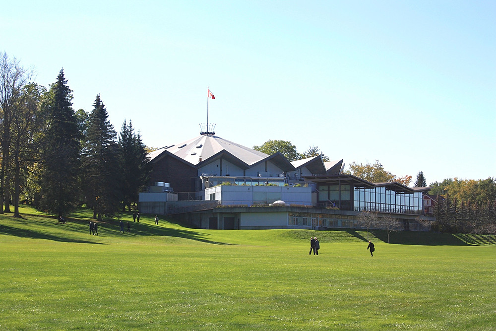 The Stratford Festival on the hill in Upper Queen's Park in Stratford, Ontario
