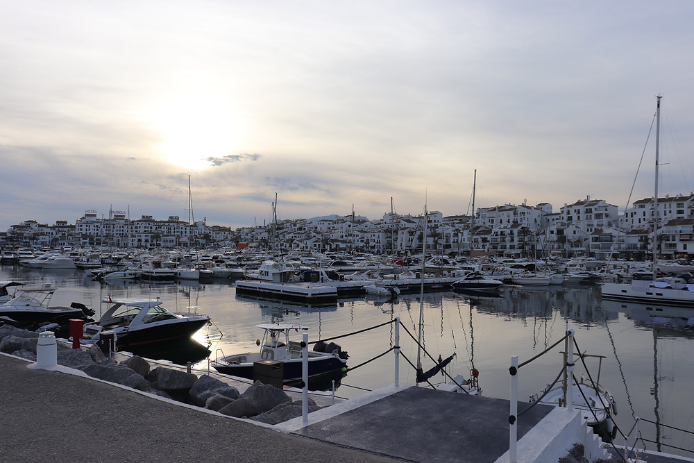 Puerto Banus Marbella at sunset southern spain