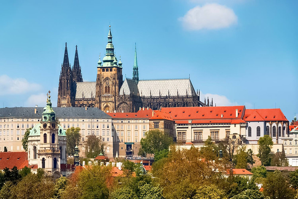 View of Prague Castle and St Vitus Cathedral, Prague