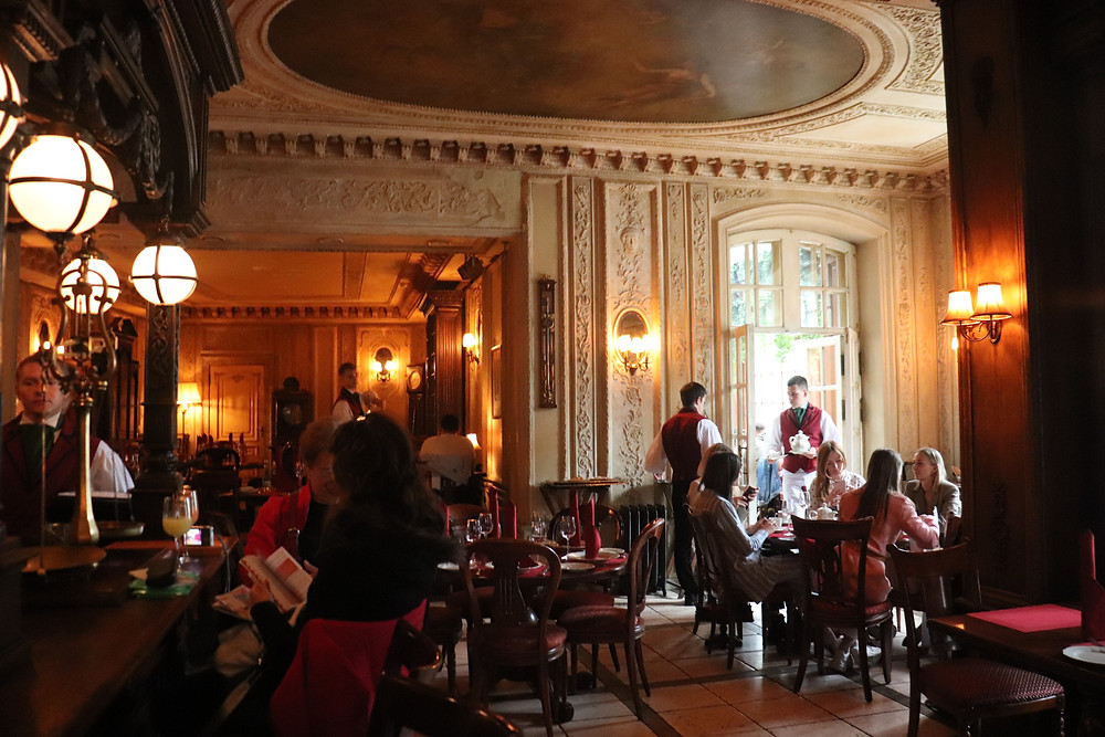 Inside Cafe Pushkin in Moscow Russia