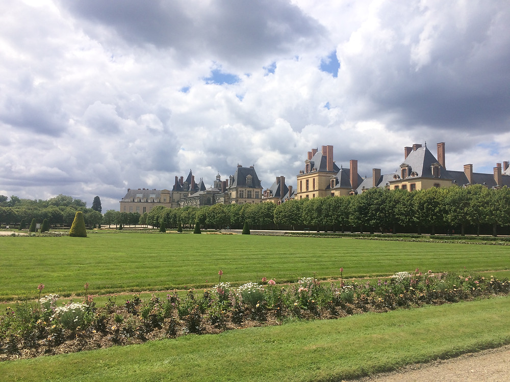 Grounds surrounding Fontainebleau in Paris, France