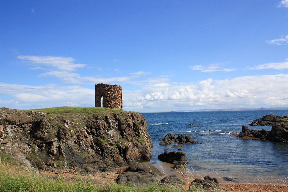 Lady's Tower along the Fife Coastal Path in Scotland