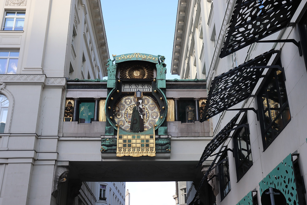 Unique outdoor clock in the city centre
