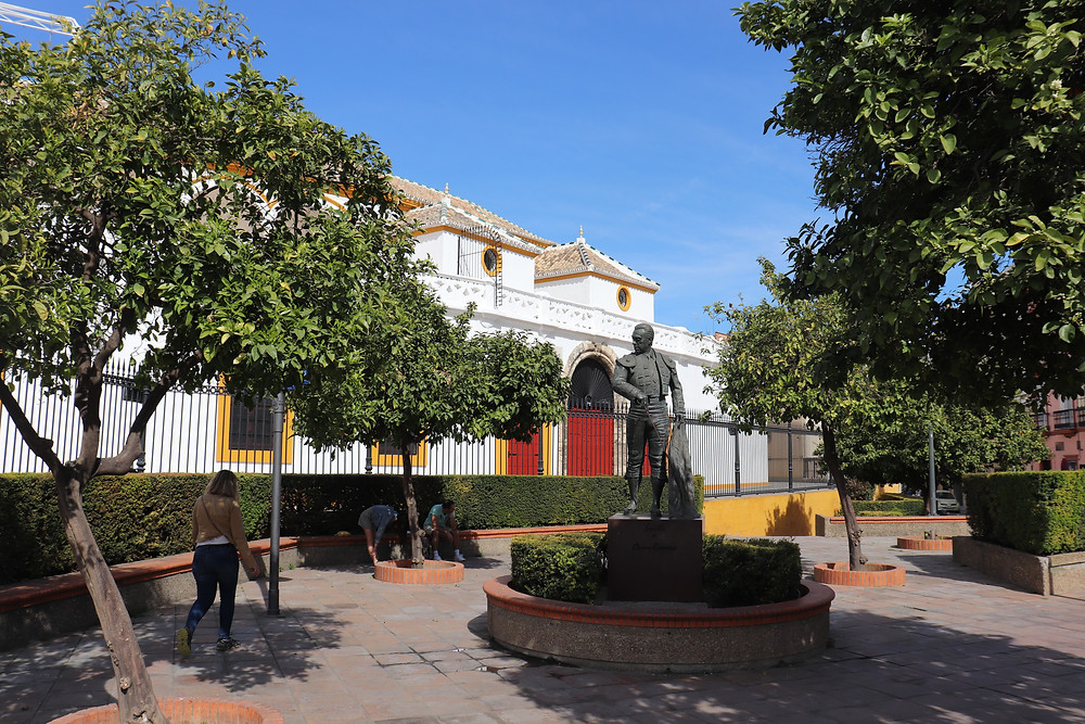 Outside of the bullring in seville spain