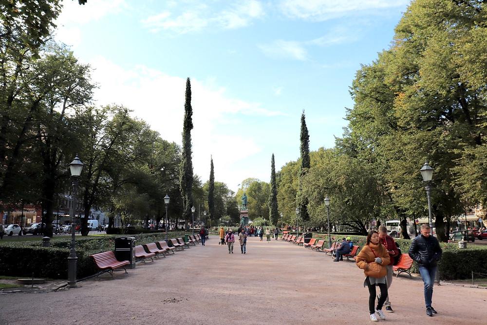 Esplanadi Park Helsinki Finland in September