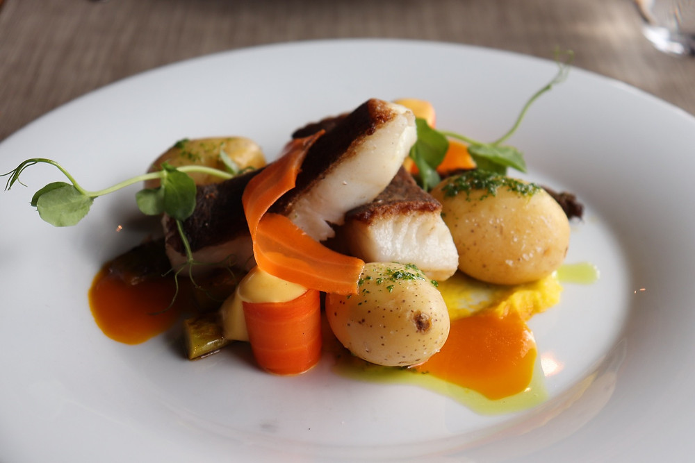 Freshly cooked fish from Merimakasiini Restaurant in Helsinki Finland