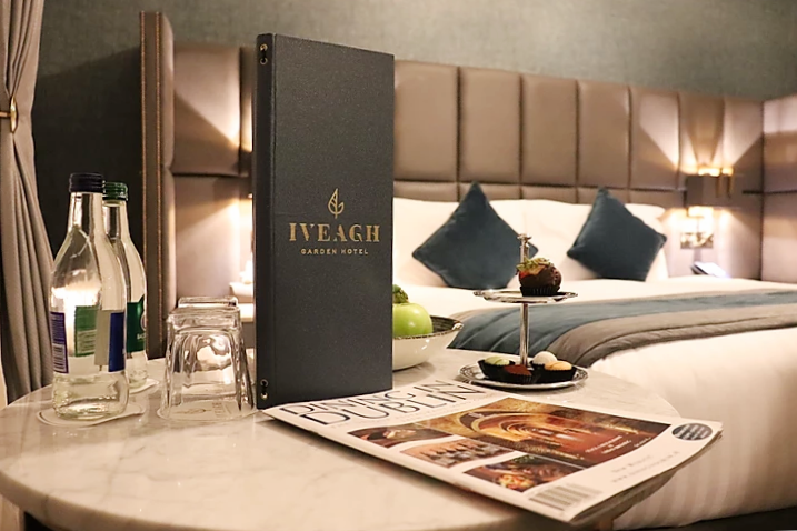 Double room in the Iveagh Garden Hotel Dublin Ireland