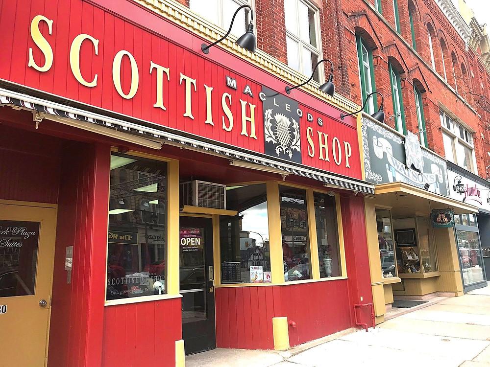 MacLeods Scottish Shop on Ontario Street in Stratford, Ontario