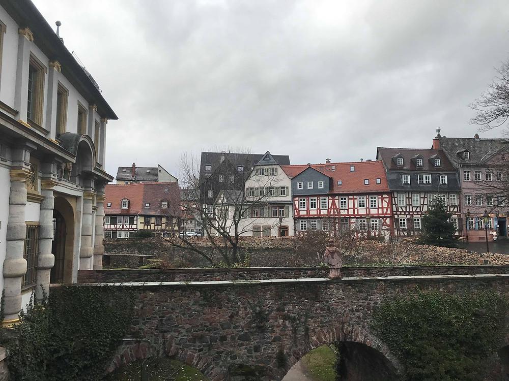 Hochst neighbourhood in Frankfurt Germany