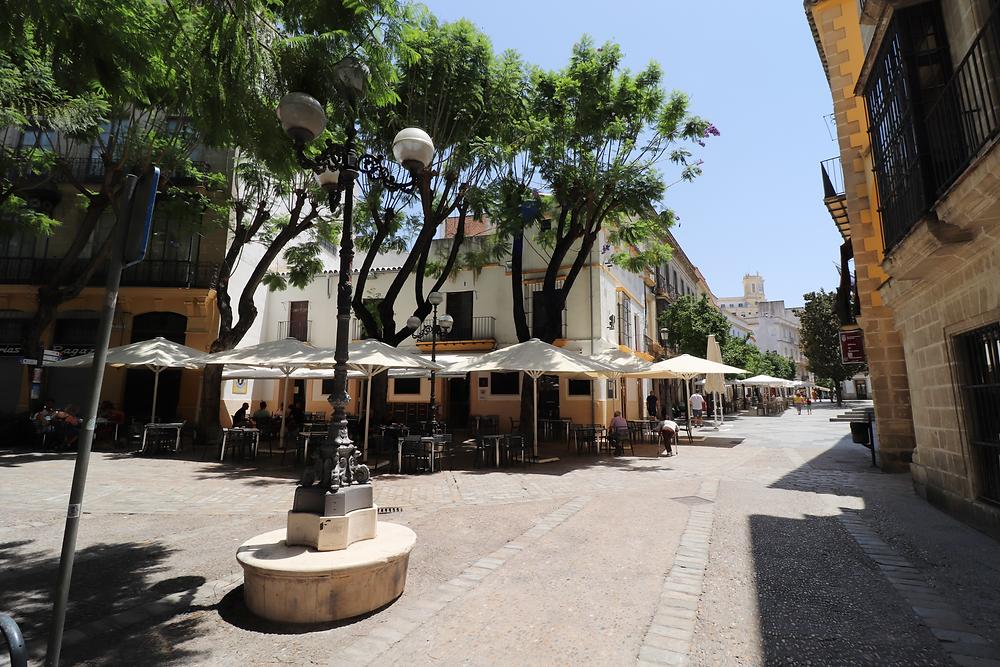 Plaza de la Yebra in Jerez, Cadiz, Spain