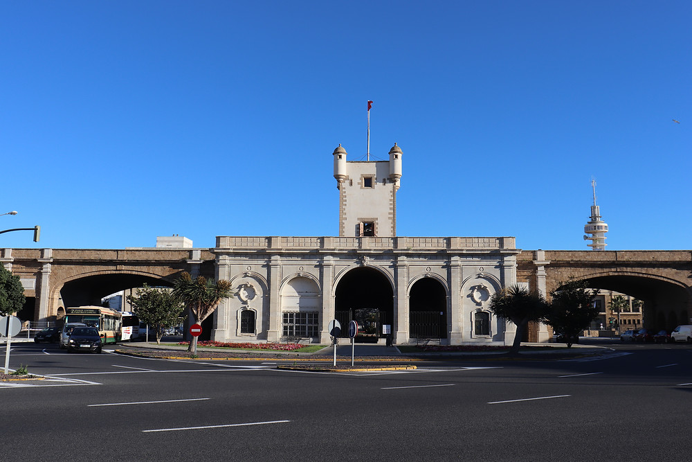 Puerta de Tierra in cadiz spain
