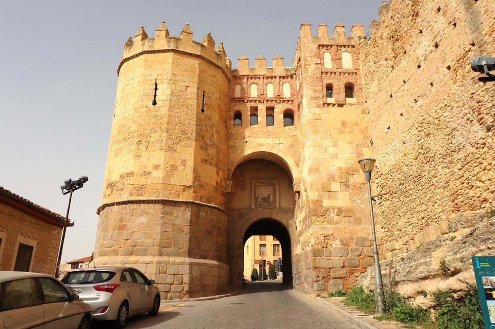 Puerta de San Andrés gate to Jewish quarter Segovia