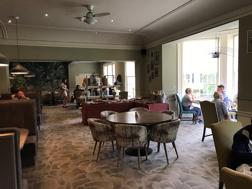 Dining room and breakfast area in rufflets hotel st andrews scotland