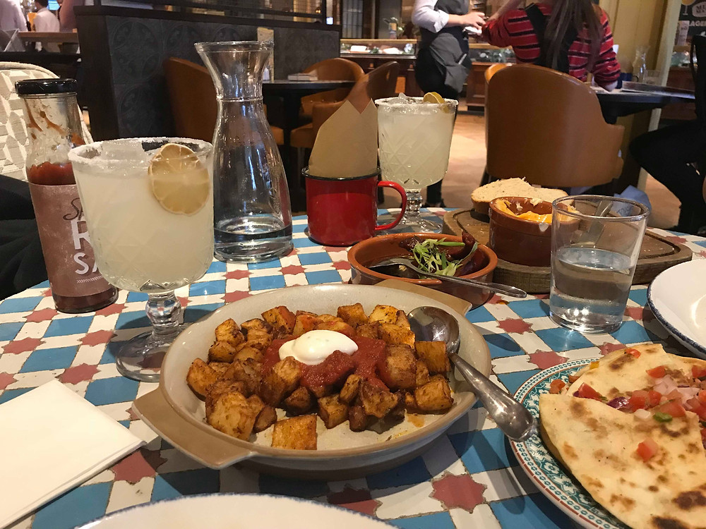 Tapas dishes and cocktails at Revolucion de Cuba Manchester England