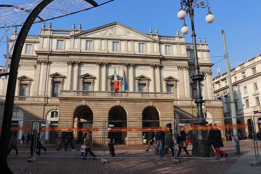 Outside of the Teatro alla Scala, Milan Italy
