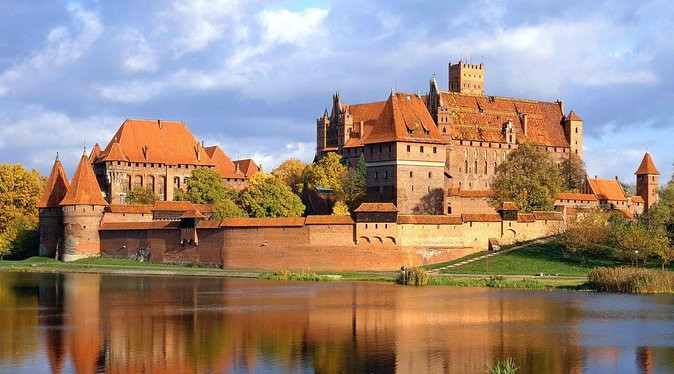 Malbork Castle from across the water, Poland