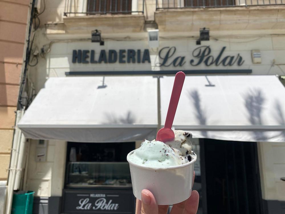 Heladería La Polar ice cream in Jerez, Cadiz, Spain
