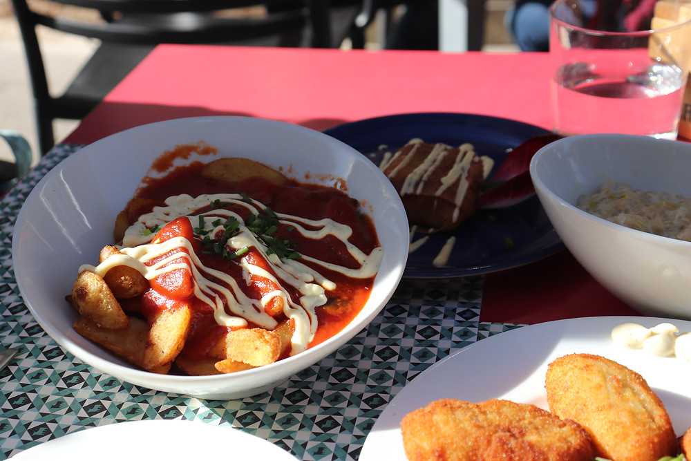 Patatas bravas and other tapas dishes in southern spain