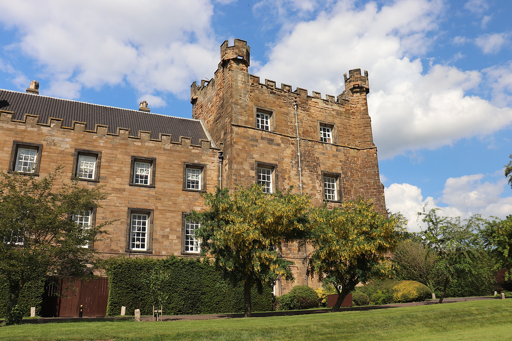 Exterior of lumley castle hotel in northern england