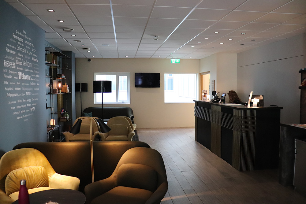 Lobby in Hotel Klettur Reykjavik Iceland