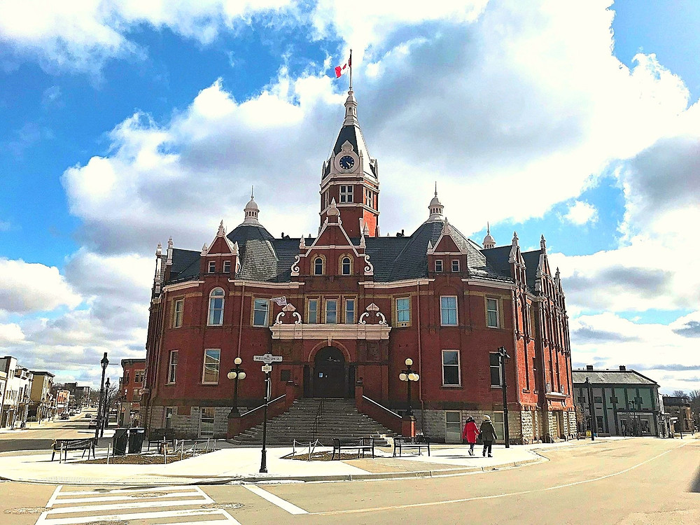 Stratford City Hall in the downtown area, Ontario