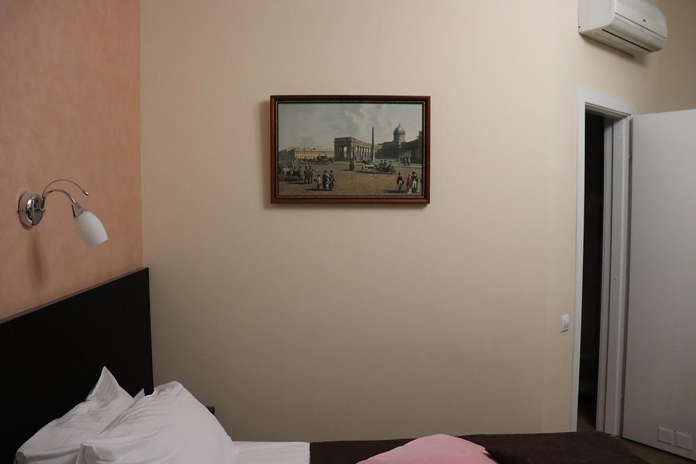 Artwork inside the bedroom Hotel Esplanada russia