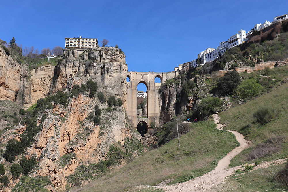 Ronda bridge connecting the two parts of the town southern spain