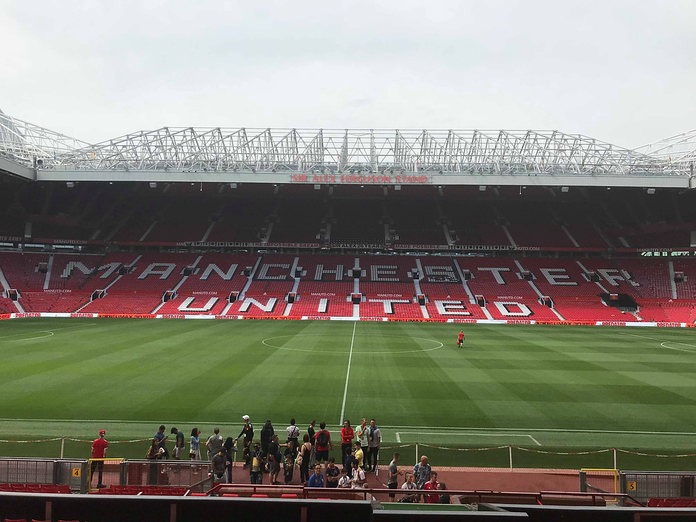 View of Old Trafford during a tour in Manchester England