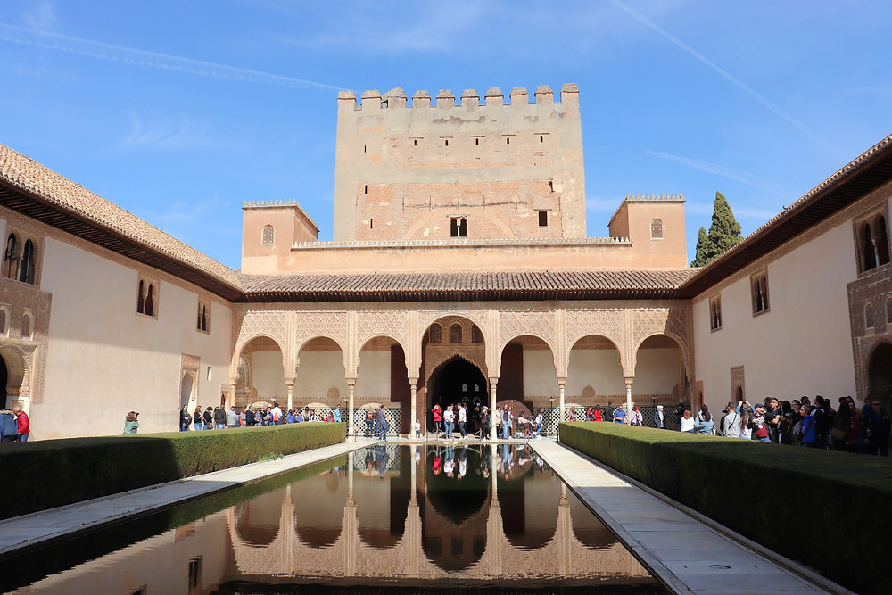 Inside the Nasrid Palaces in the Alhambra in Granada, Spain