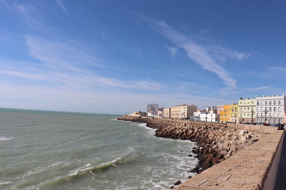 Cadiz seafront on a sunny day spain