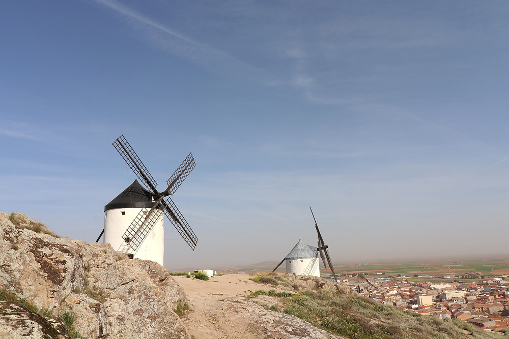 First two Windmills in Consuegra Spain