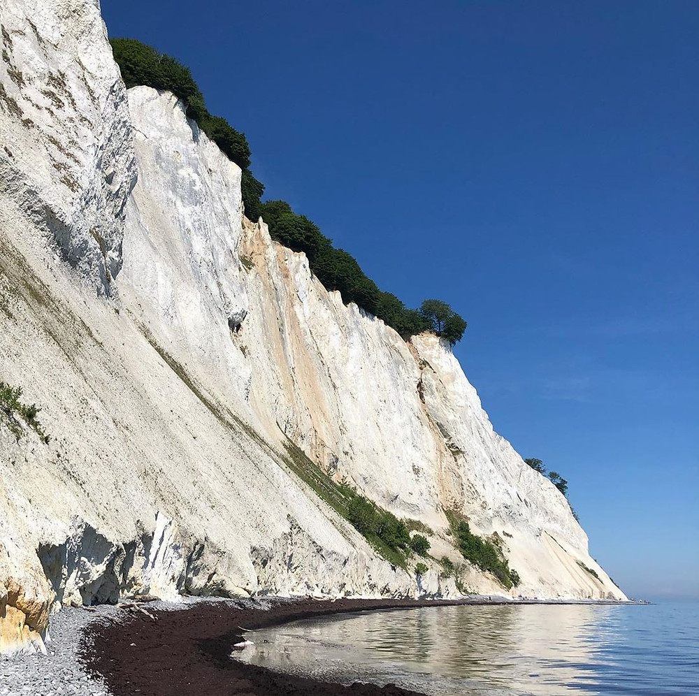 Møns Klint white cliffs in Denmark