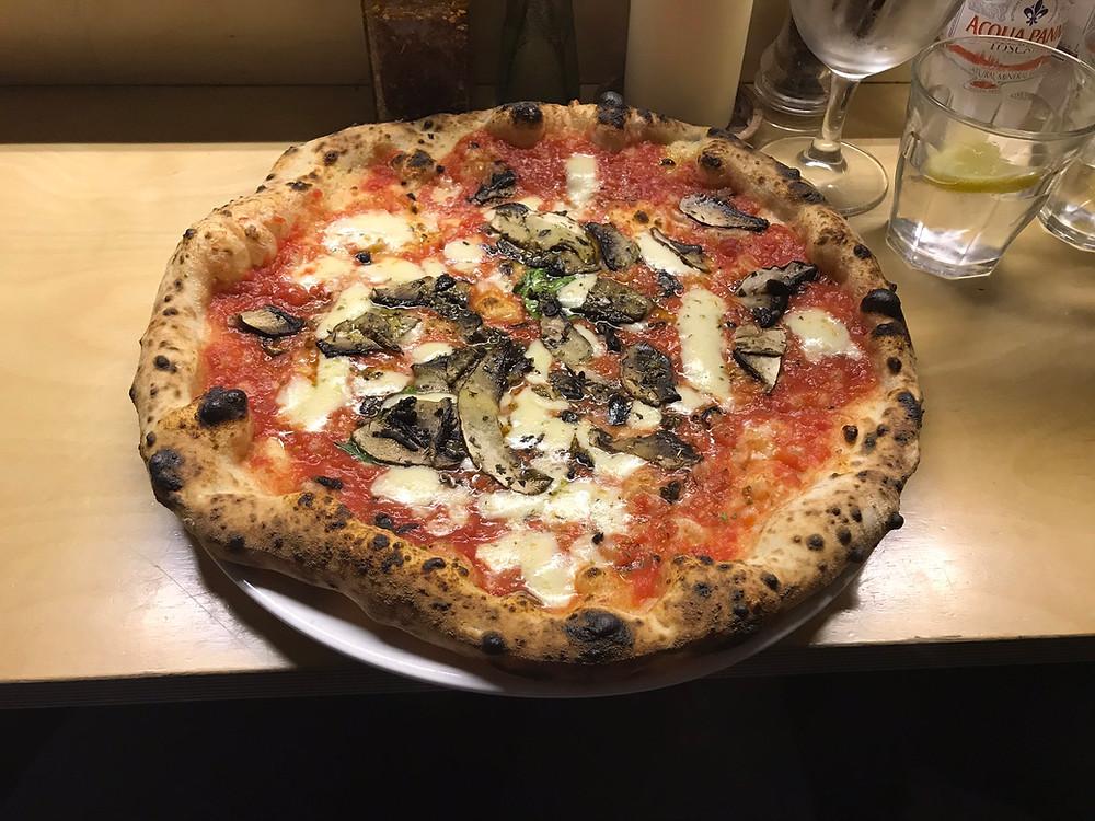 Portobello pizza from Rudy's in Manchester UK