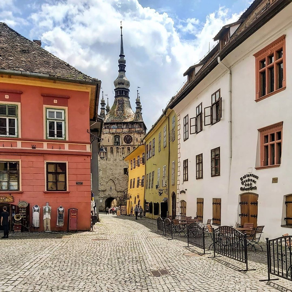 Sighisoara old town in Romania