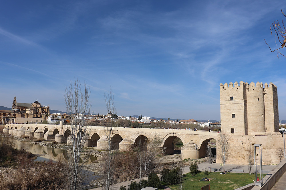Roman bridge of Cordoba on a sunny day southern spain